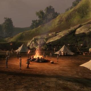 Obóz uchodźców pod wioską