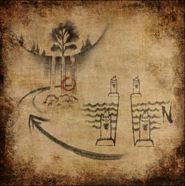 Карта пути к водопаду