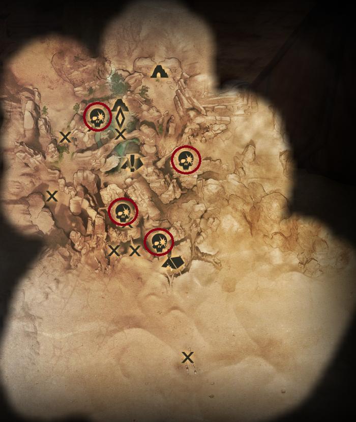 Scherben in der Oase - Karte
