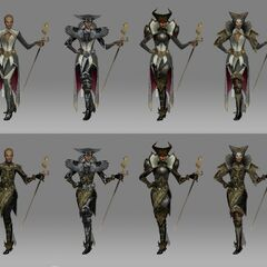 Concept art of Vivienne and her style of dress