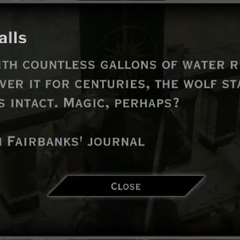Wolf Falls Landmark Text