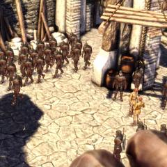 Wojska Couslandów opuszczają zamek