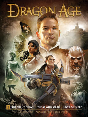 Dragon Age Library Edition Volume 1 HC cover art