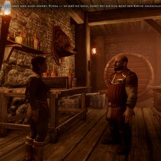 Cabot in seiner Taverne