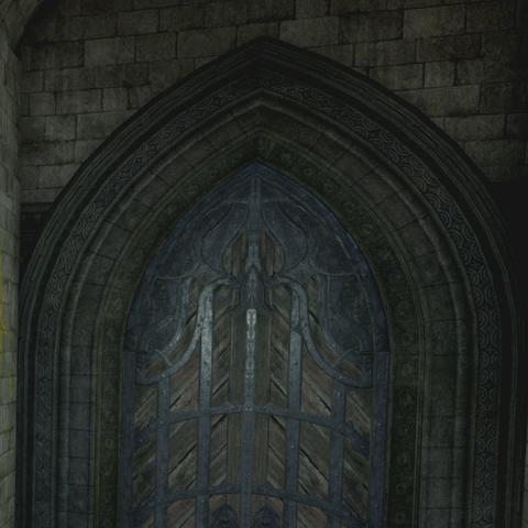 The Still Ruins exterior door bug example
