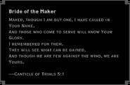 Bride of the Maker
