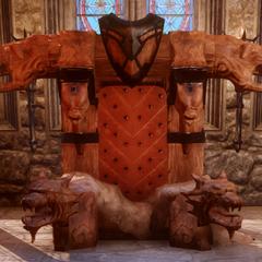Fereldan Throne with both accessories