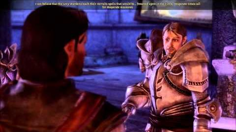 Dragon Age Reaction to blood magic (cut content)