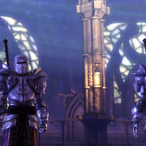 Cullen and another Templar witness The Warden's Harrowing (Mage Origin)