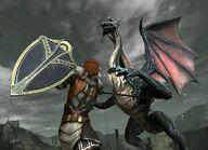 Сражение со зрелым драконом