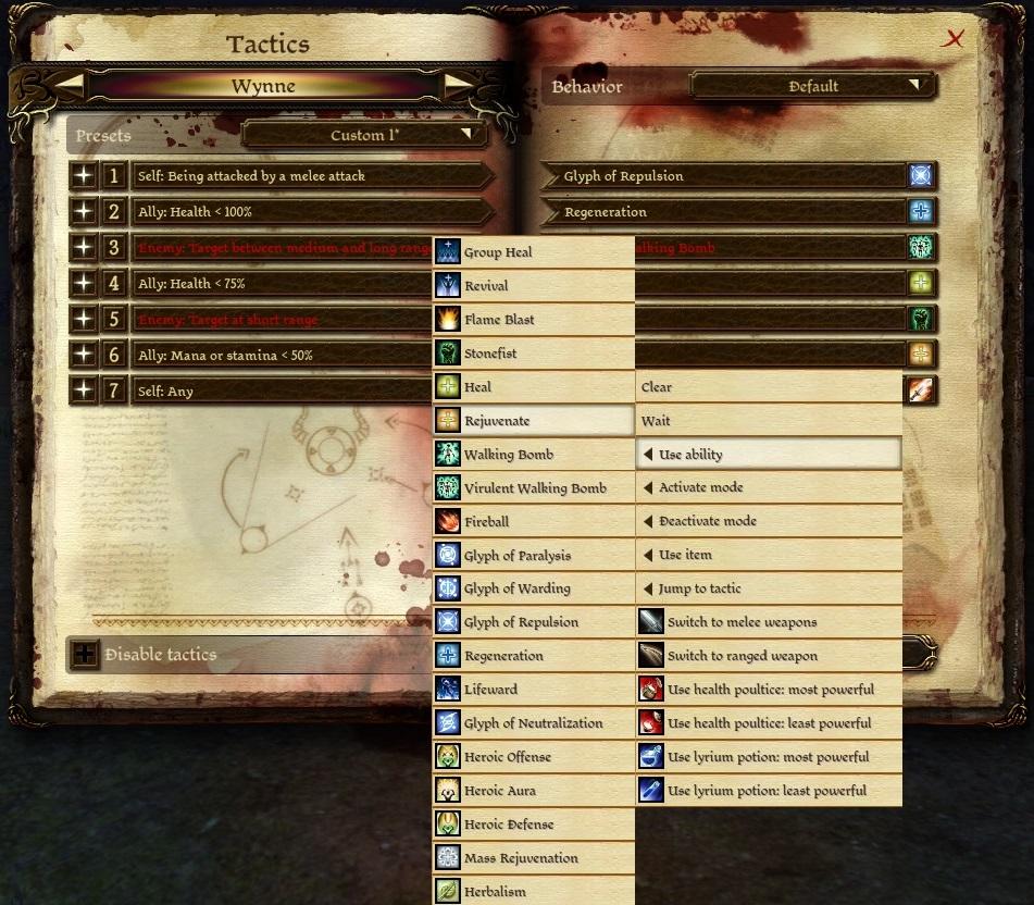 Tactics (Origins) | Dragon Age Wiki | FANDOM powered by Wikia