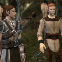 Pol, a City Elf from Denerim, and Junar