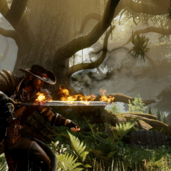 Promotional image of an Inquisitor with a flaming sword