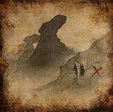 Sand und Verfall - Skizze des Grabs in den Schattigen Bergen