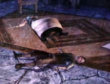 Oriana and Oren Cousland lying dead