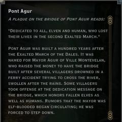 Pont Agur Landmark Text