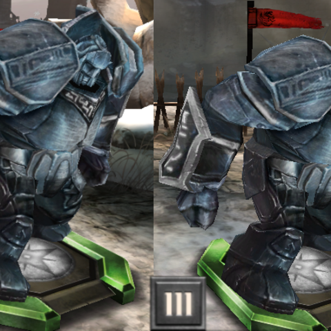 Tier progression of a steel golem in <i><a href=