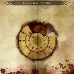 Mapa wieży Ishal - pierwsze piętro