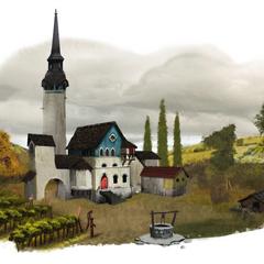 An Orlesian vineyard