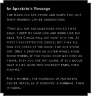 An Apostate's Message