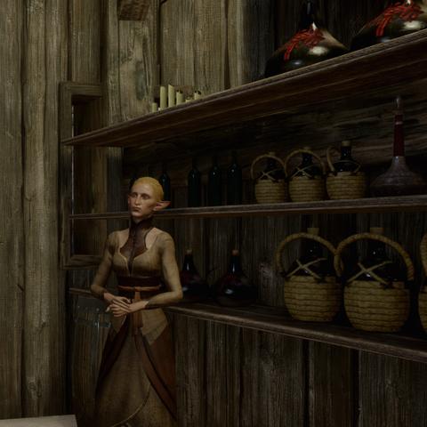 Die Heilerin in ihrer Hütte