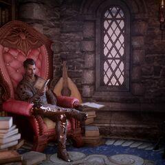 Dorian liest in der <a href=
