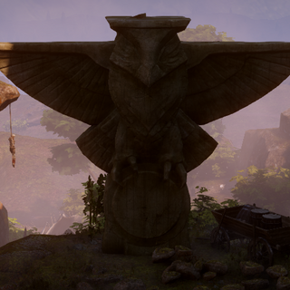 A statue of an owl, the Guide of Falon'Din in <a href=