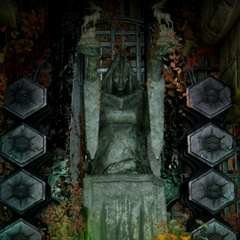 The shrine in the <a href=