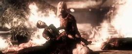 Warden's fall burning woman