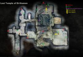 Храм Диртамена (карта)
