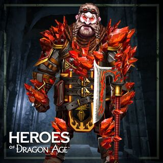Bartrand von Rotem Lyrium befallen in Heroes of Dragon Age