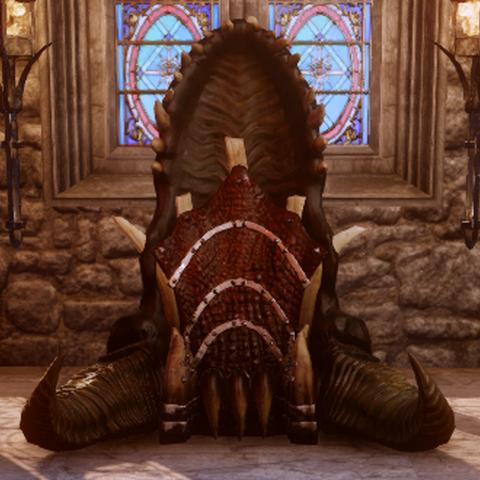 Der Drachenschlund-Thron von vorne