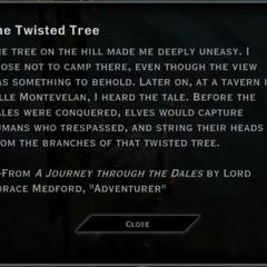 The Twisted Tree Landmark Text