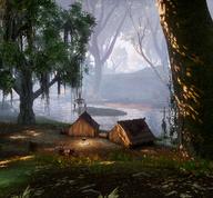 Lager am Fluss