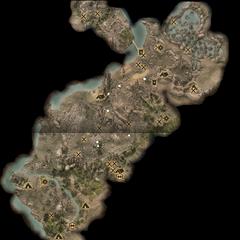 Eine Karte mit sämtlichen markierten Fundorten