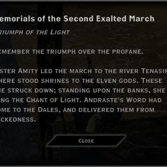 Triumph of the Light Landmark Text