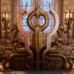 Enchanter's Seat with both accessories
