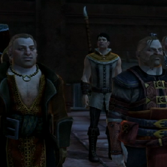 Varric, Bartrand and companions in the deep roads.