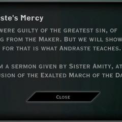 Andraste's Mercy Landmark Text
