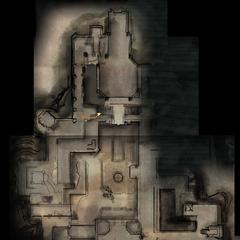 Karte des oberen Geschosses der Festung