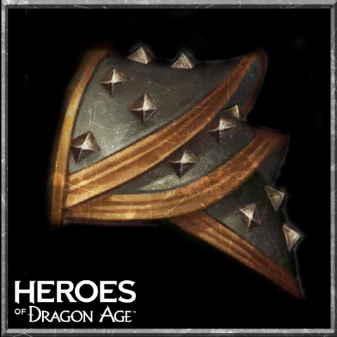 Duster Leather Pauldron in <i>Heroes of Dragon Age</i>