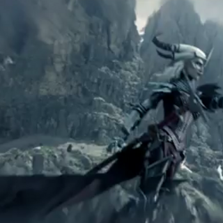 Flemeth as she appears in the Destiny trailer