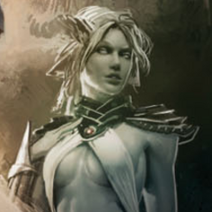 Rasaan as depicted on the cover of <i>Dragon Age Library Edition Volume 1</i>