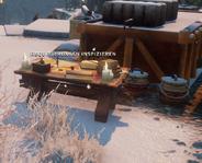 Requirierungen für Waffen - Der Tisch
