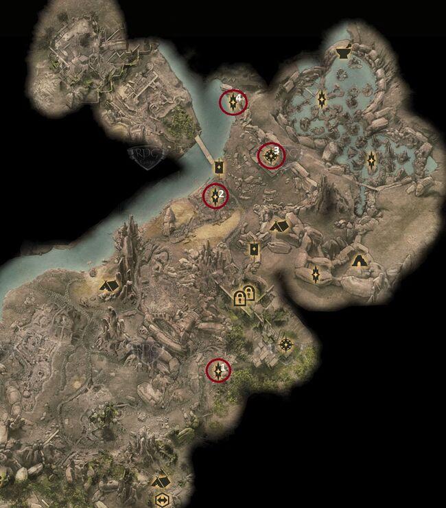 Risse auf dem Schlachtfeld - Karte