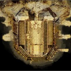 Der Eingansbereich/Vorhof der Festung