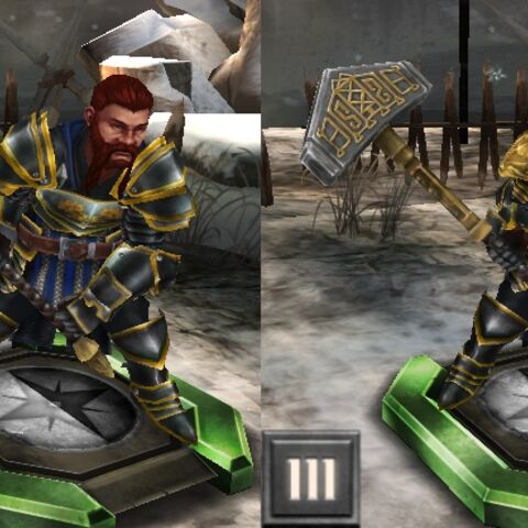 Tier progression of Grey Warden Oghren in <i>Heroes of Dragon Age</i>