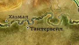 Тантерваль карта