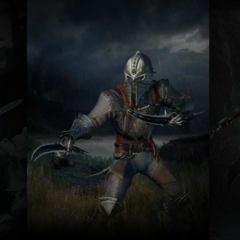 A male human Inquisitor in warrior, rogue, and mage equipment