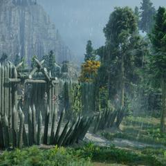 Der Eingang zum Lager der Klingen